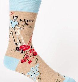BlueQ Killin' It  Men's Crew Socks