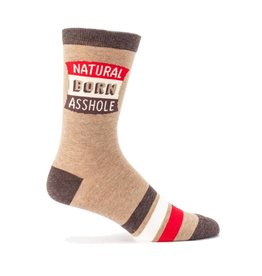 BlueQ Natural Born Asshole Men's Crew Socks