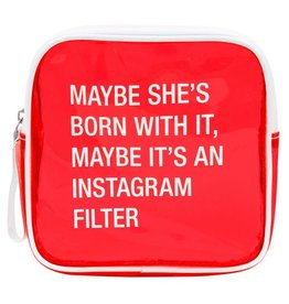 About Face Designs Instagram Filter Cosmetic Bag