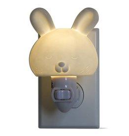 tag* White Bunny - LED Plug In Nightlight