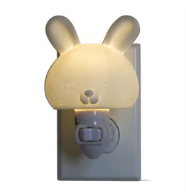 tag* White Bunny - LED Plug In Nightlight DNR