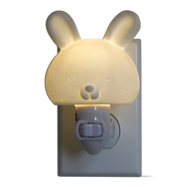 tag* White Bunny - LED Plug In Nightlight