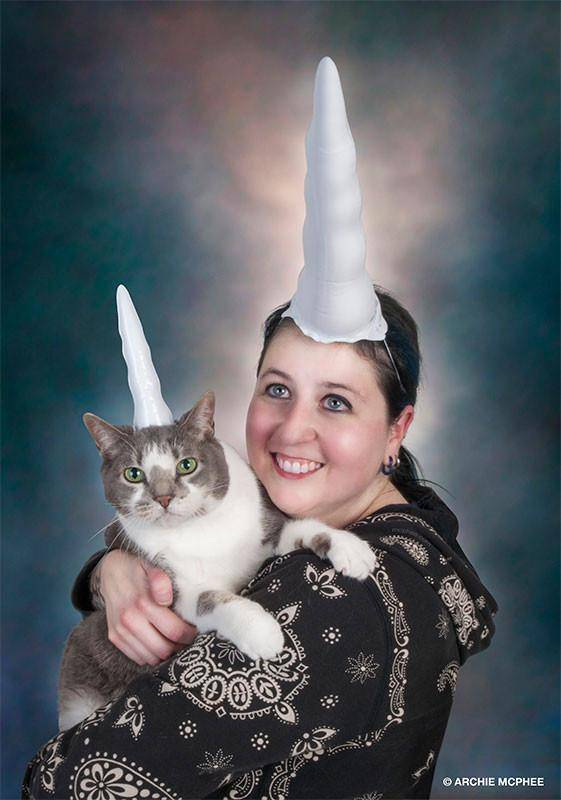 Unicorn Cat Inflatable Horn