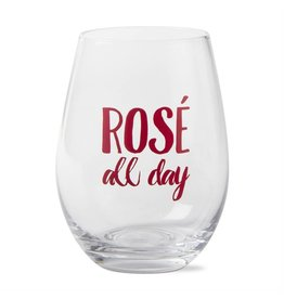tag* Rose All Day - Stemless Wine Glass DNR