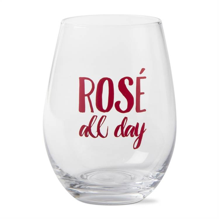 tag* Rose All Day - Stemless Wine Glass