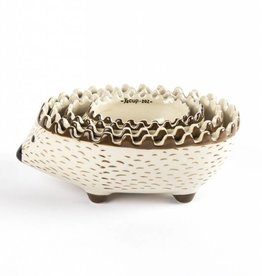 Creative Co-Op Stoneware Hedgehog Measuring Cup Set