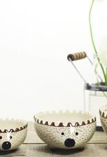 Creative Co-Op Stoneware Hedgehog Measuring Cup Set