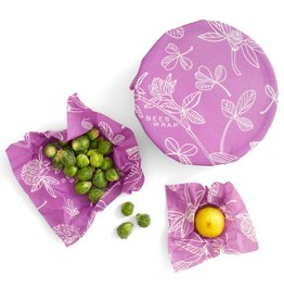 Bees Wrap* Bee's Wrap Set of 3 Assorted Mimi's Purple
