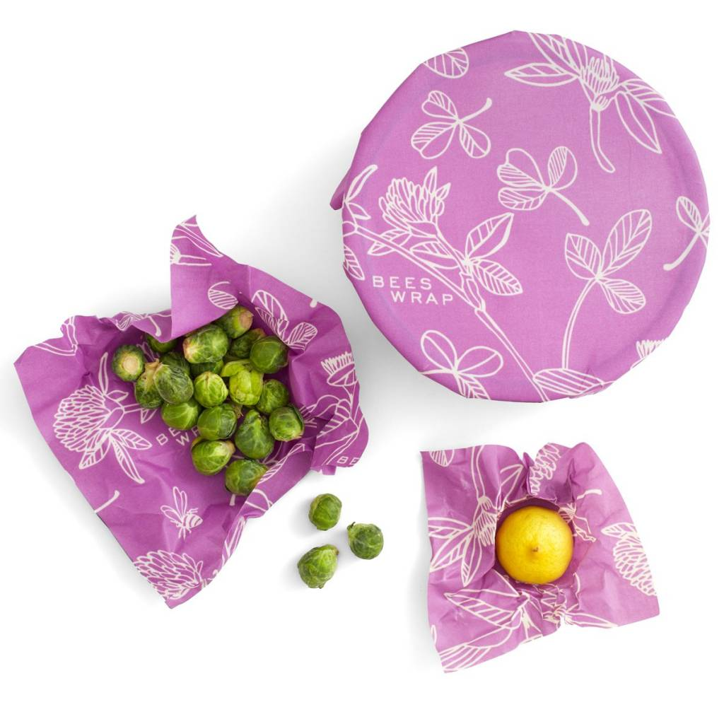 Bees Wrap* Bee's Wrap Set of 3 Assorted - Mimi's Purple