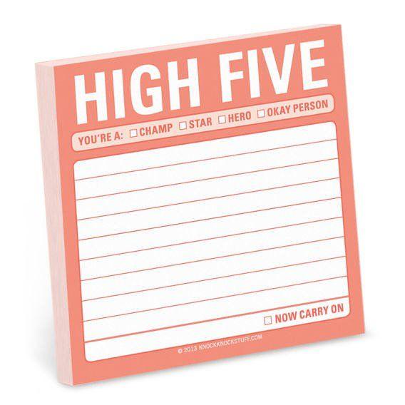 Knock Knock High Five Sticky Note