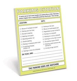 Knock Knock Nifty Notes - Parking Citation DNR