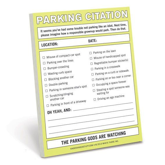 Knock Knock Nifty Notes - Parking Citation