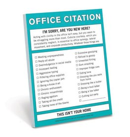 Knock Knock Office Citation- Nifty Notes