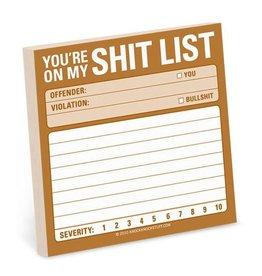 Knock Knock Shit List - Sticky Note