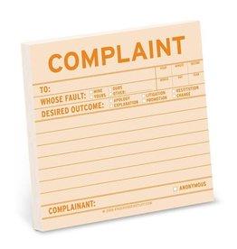 Knock Knock Sticky Note - Complaint