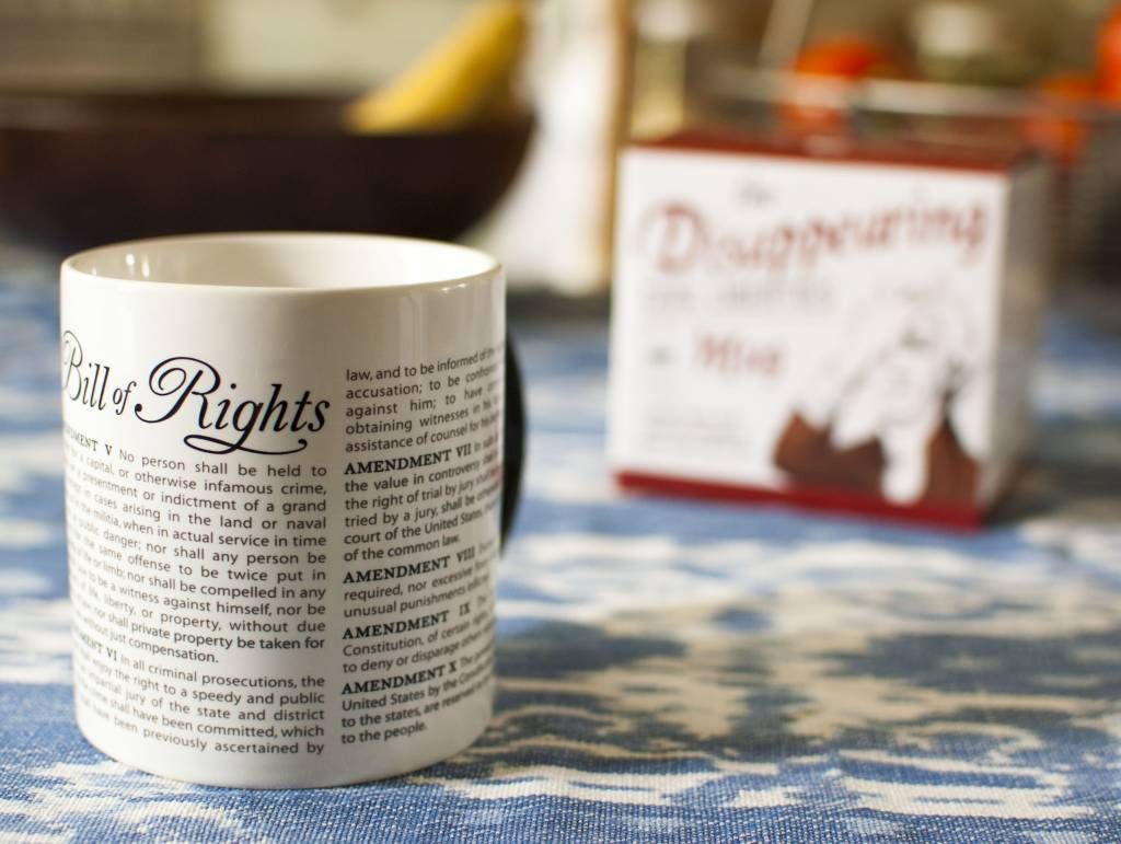 Unemployed Philosopher Disappearing Civil Liberties Mug