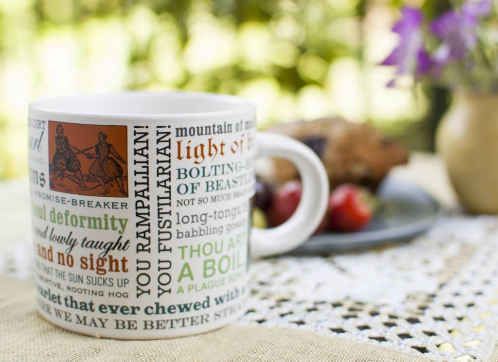 The Unemployed Philosophers Guild Shakespearean Insults Mug