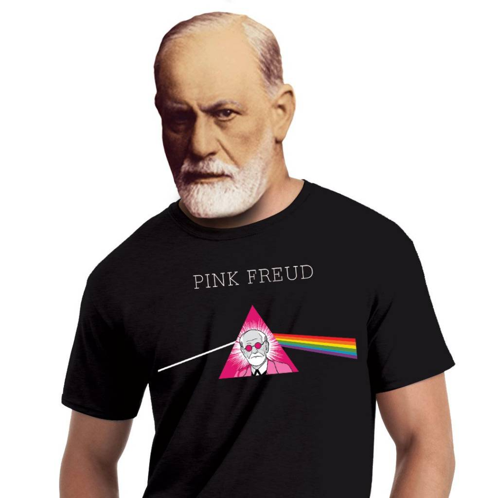 The Unemployed Philosophers Guild Pink Freud Unisex T-Shirt