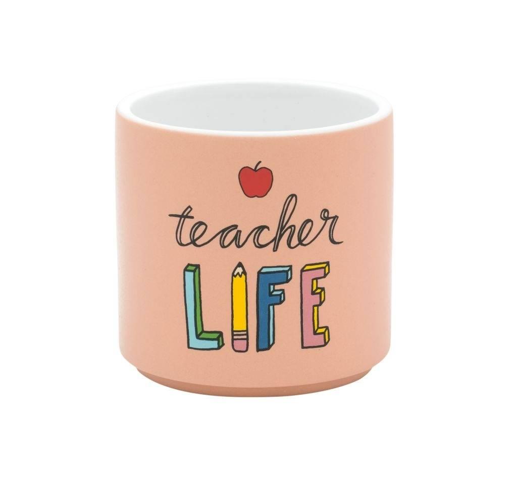 About Face Designs Teacher Life Planter DNR