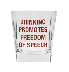 About Face Designs Freedom of Speech - Rocks Glass