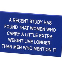 About Face Designs Men Who Mention it - Large Sign