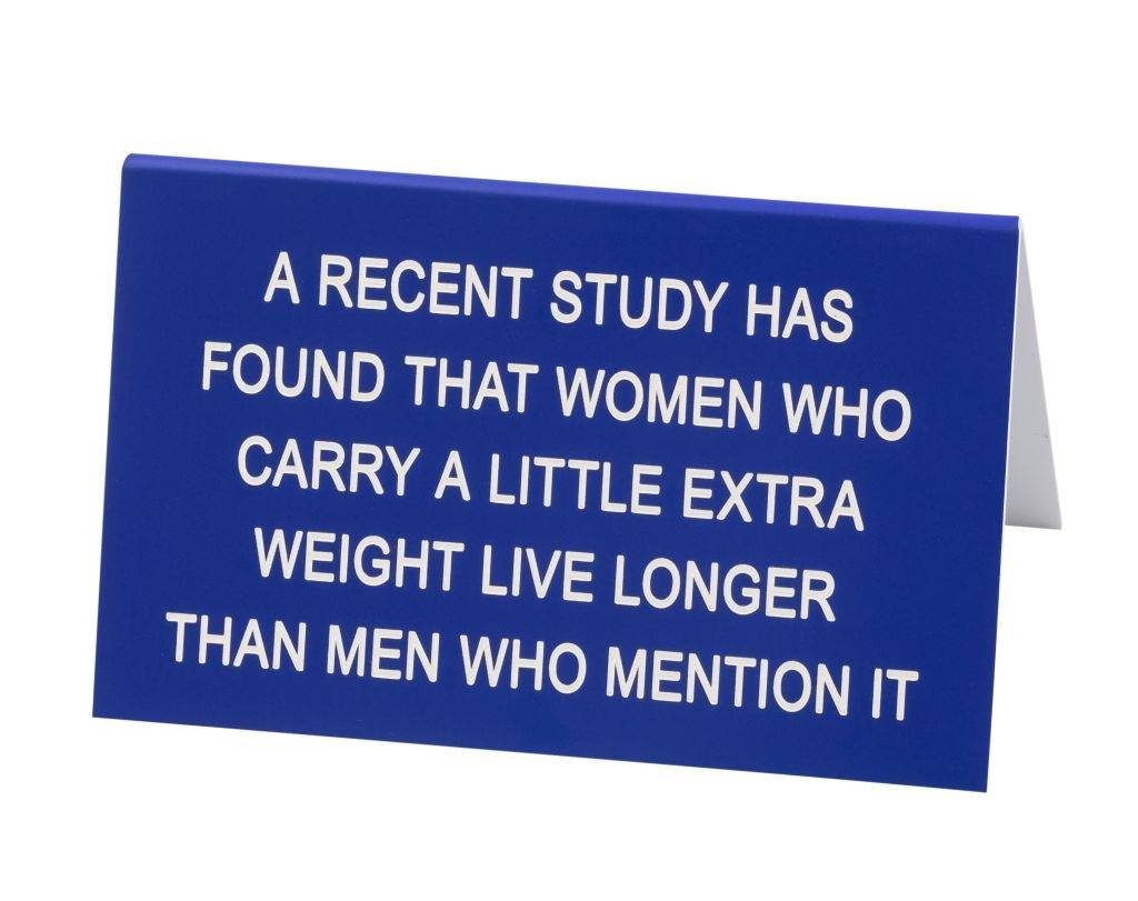 About Face Designs Men Who Mention it - Large Sign DNR