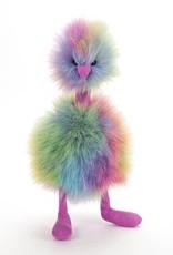 JellyCat, Inc. Medium Pom Pom Bird  - Rainbow