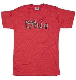 Be Ohio Proud Red Ohio Script Unisex T-Shirt