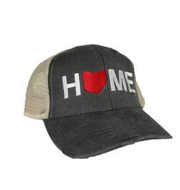 Be Ohio Proud Home Hat Tan/Charcoal Mesh