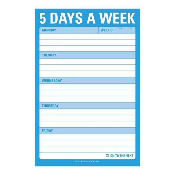 Knock Knock 5 Days a Week - Great Big Stickies