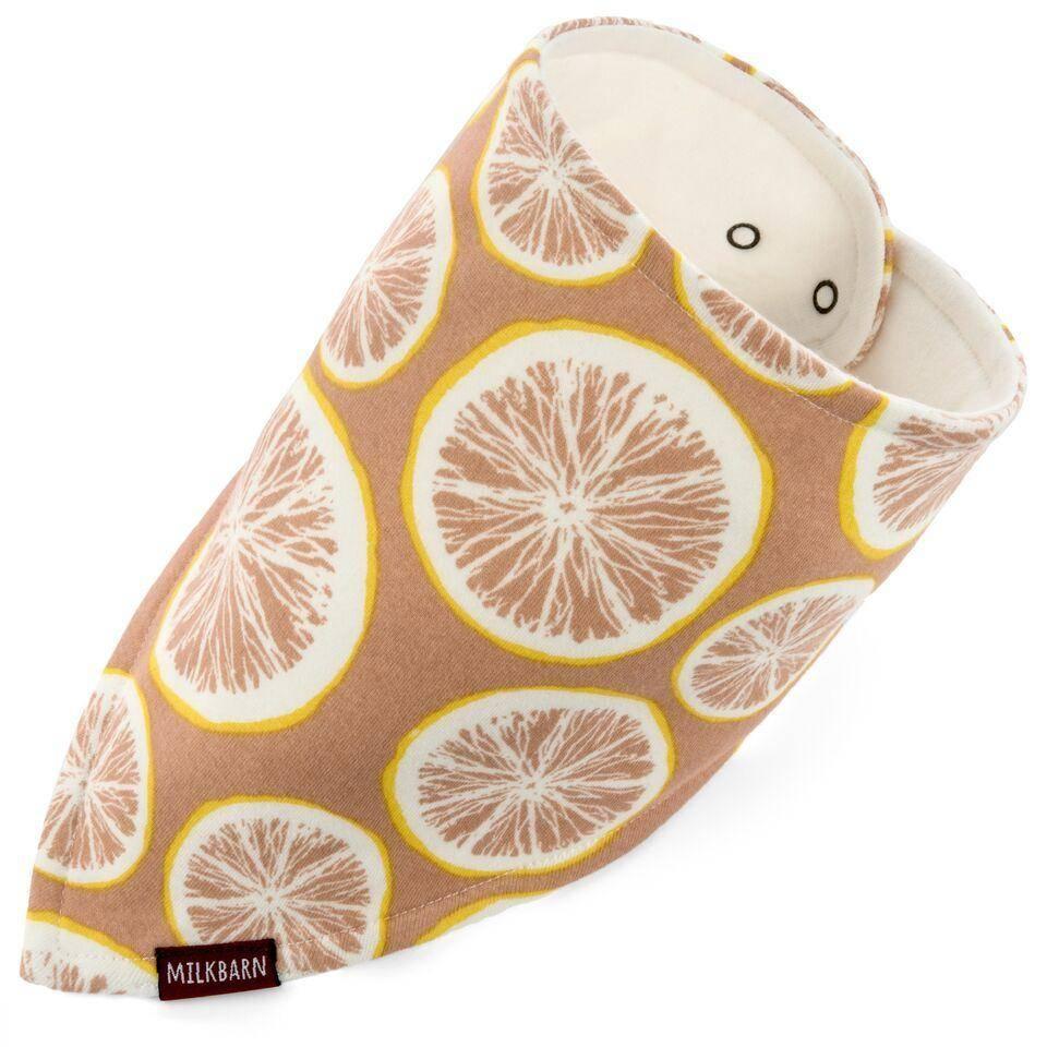 Milkbarn Grapefruit - Kerchief Bib