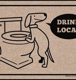 HIgh Cotton Drink Local Dog - Doormat