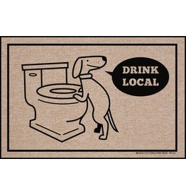HIgh Cotton Drink Local Dog - Doormat