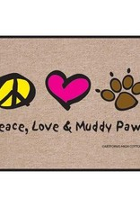 HIgh Cotton Peace Love and  Muddy Paws - Doormat