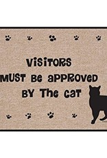 HIgh Cotton Visitors Must Be Approved by the Cat - Doormat