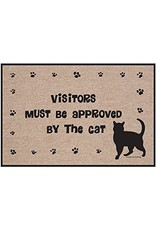 High Cotton* Visitors Must Be Approved by the Cat - Doormat