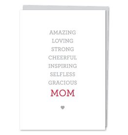 Design With Heart MOM Words - Card