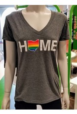 Be Ohio Proud Rainbow Home V-Neck T-Shirt