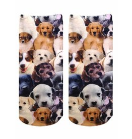 Living Royal Puppy All Over Ankle Socks
