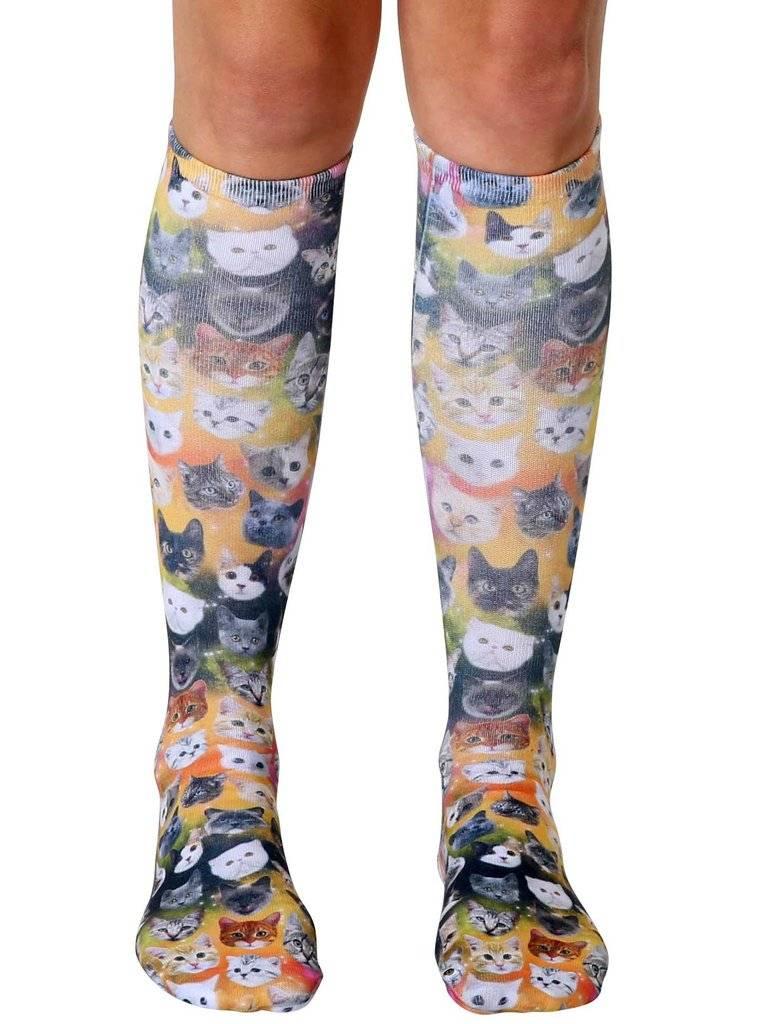 Living Royal Galaxy Kitty Knee High Socks