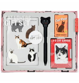 Kikkerland Designs Cat Lovers Gift Set