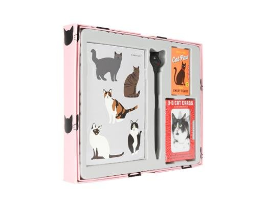Kikkerland Designs Cat Lovers Gift Set DNR