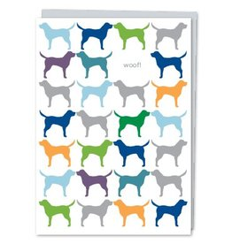 Design With Heart Dog Woof - Card