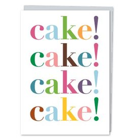 Design With Heart Cake x4 - Card Birthday