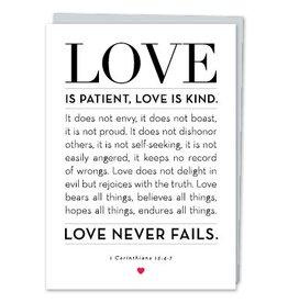 Design With Heart Love Is Patient Corinthians  - Card Love
