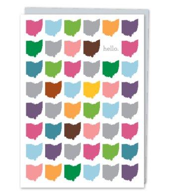 Design With Heart Hello Rainbow Ohio  - Card