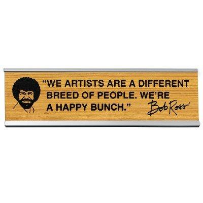 Wellspring Bob Ross Artists- Desk Sign