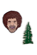 Unemployed Philosopher Bob Ross & Tree Pins