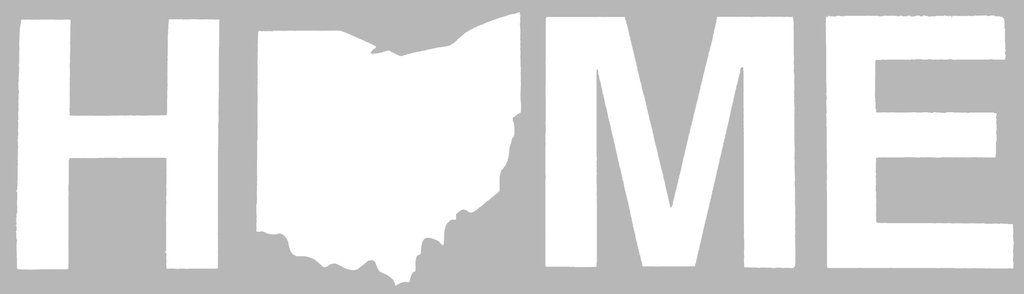 Home Ohio Sticker - White