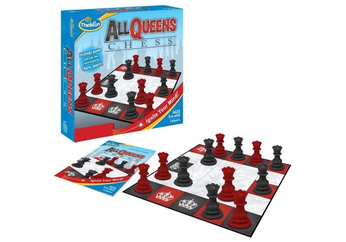 THINK FUN All Queens Chess - A Strategy Game with Only the Most Powerful Piece!